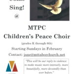 Children's Peace Choir to launch in February!